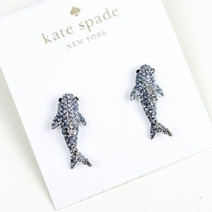kate spade adorable shark earrings